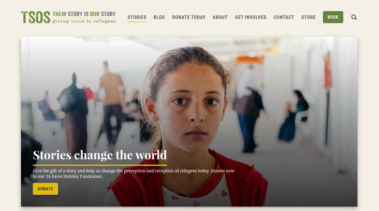 TSOS Refugees Website Screenshot