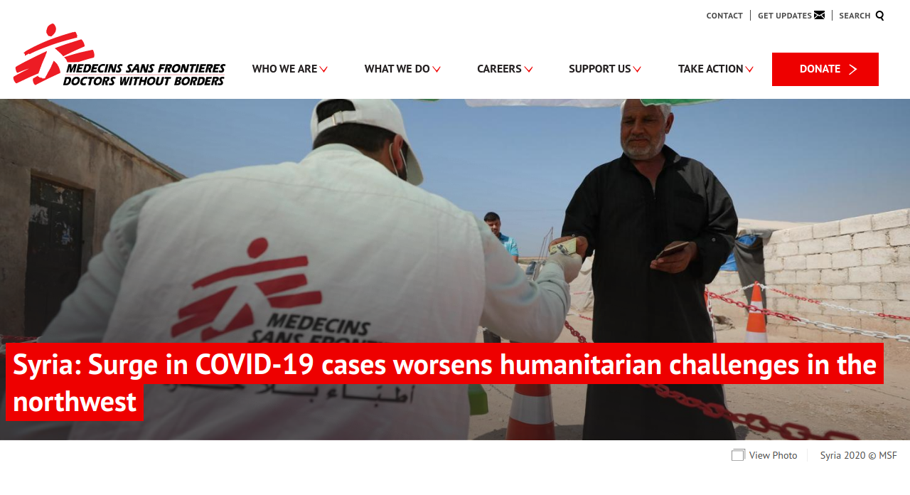 Doctors Without Borders Website Screenshot