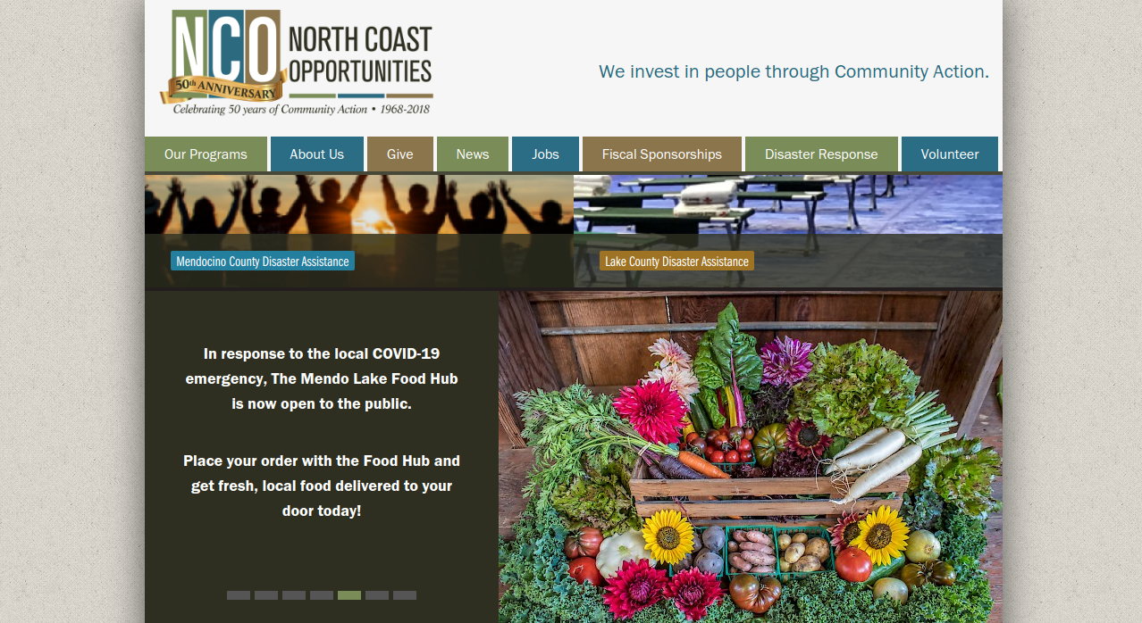 North Coast Opportunities Website Screenshot
