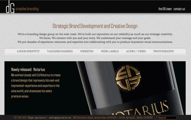 DG Creative Branding - Marc Carson Web Design - Ukiah, California