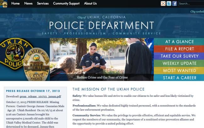 Ukiah Police Department - Marc Carson Web Design - Ukiah