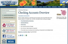 Mendo Lake Credit Union screenshot