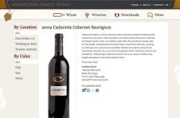 Middleton Family Wines screenshot